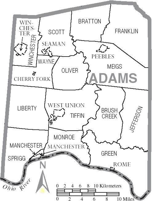 Map_of_Adams_County_Ohio_With_Municipal_and_Township_Labels